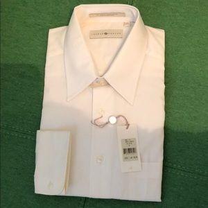 NWT Joseph Abboud LS Cream Dress Shirt